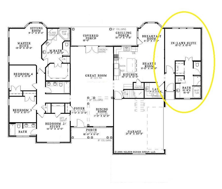 Floorplan with in-law suite